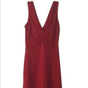 Banana Republic NWT wool blend red midi dress